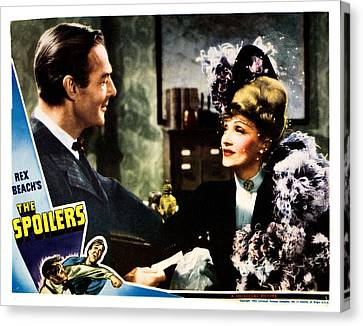 The Spoilers, From Left Randolph Scott Canvas Print by Everett