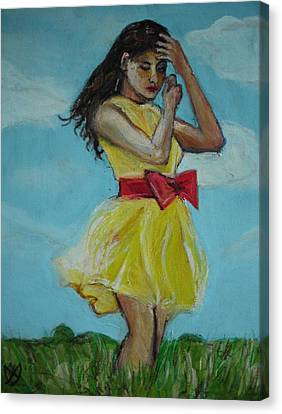 The Spring Bow Dress Canvas Print by Adam Kissel
