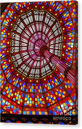 The Stained Glass Ceiling Canvas Print by Judi Bagwell