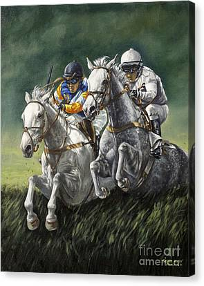 The Steeplechase Canvas Print by Thomas Allen Pauly