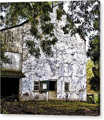 The Stone Barn Canvas Print by Bill Cannon