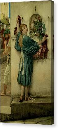 The Street Altar Canvas Print by Sir Lawrence Alma-Tadema