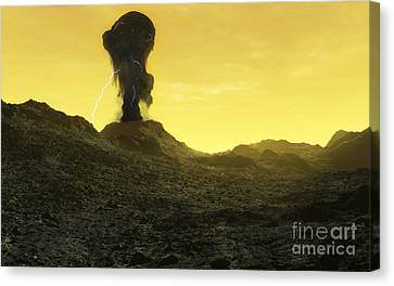 The Surface Of An Infernal Planet Canvas Print by Fahad Sulehria