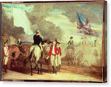 The Surrender Of Cornwallis At Yorktown Canvas Print by John Trumbull