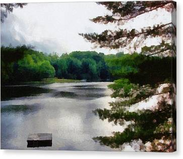 The Swimming Dock Canvas Print by Michelle Calkins