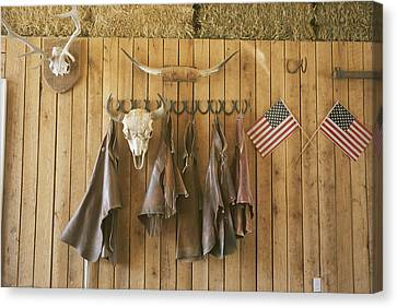 The Tack Room At Saddleback Ranch Canvas Print by Taylor S. Kennedy