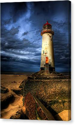 The Talacre Lighthouse Canvas Print by Adrian Evans