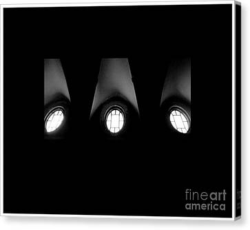 The Three Windows Of East View  Canvas Print by Tammy Cantrell