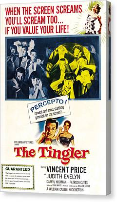 The Tingler, Bottom Vincent Price Canvas Print by Everett