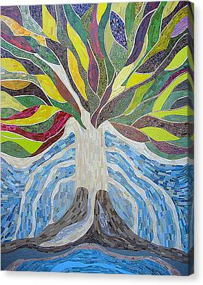 The Tree Of Life Canvas Print by Claudia French