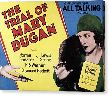 The Trial Of Mary Dugan, Norma Shearer Canvas Print by Everett