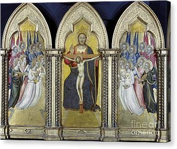 The Trinity With Angels Canvas Print by Granger