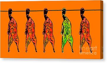 The Ugly Peking Duck Canvas Print by Wingsdomain Art and Photography
