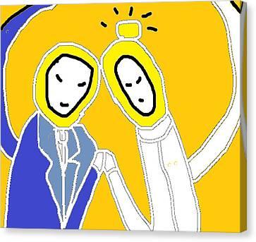 The Untraditional Wedding Canvas Print by Anita Dale Livaditis