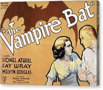 The Vampire Bat, Fay Wray, Lionel Canvas Print by Everett