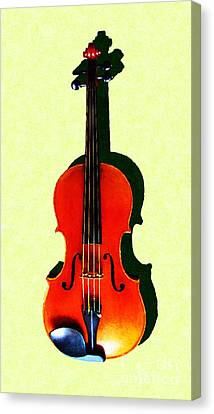 The Violin . Light Version . Painterly Canvas Print by Wingsdomain Art and Photography