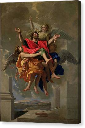 The Vision Of St. Paul Canvas Print by Nicolas Poussin