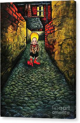 The Walk Of Loneliness II Canvas Print by Spencer Bower