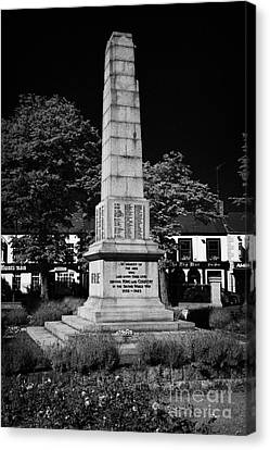 The War Memorial Newtownards County Down Northern Ireland Canvas Print by Joe Fox