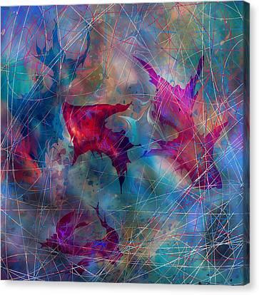 The Webs Of Life Canvas Print by Rachel Christine Nowicki