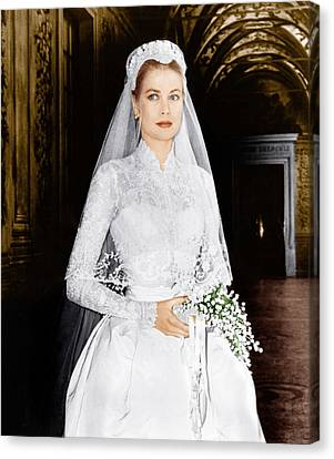 The Wedding In Monaco, Grace Kelly, 1956 Canvas Print by Everett