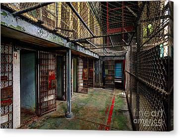 The West Virginia State Penitentiary Cells Canvas Print by Dan Friend