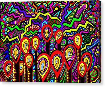 The Wick Has Been Lit Canvas Print by Karen Elzinga
