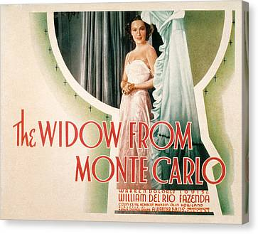 The Widow From Monte Carlo, Dolores Del Canvas Print by Everett