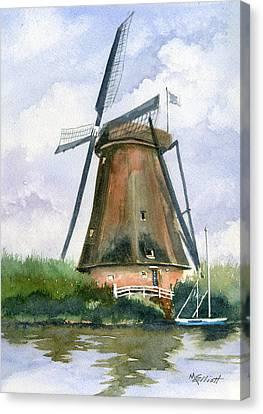 The Windmills Of Your Mind Canvas Print by Marsha Elliott