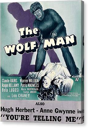 The Wolf Man, As The Wolf Man Lon Canvas Print by Everett