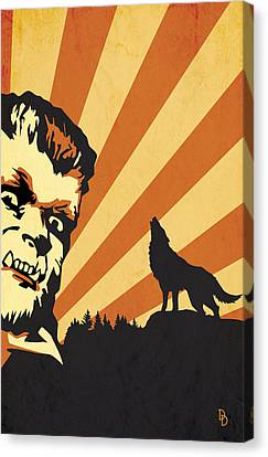 The Wolfman Canvas Print by Dave Drake