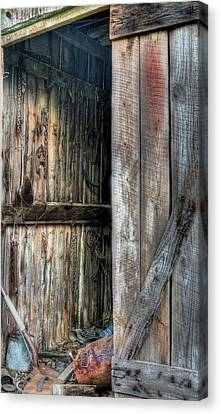 The Wood Shed Canvas Print by JC Findley