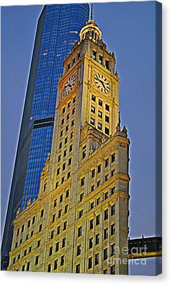 The Wrigley Building Canvas Print by Mary Machare