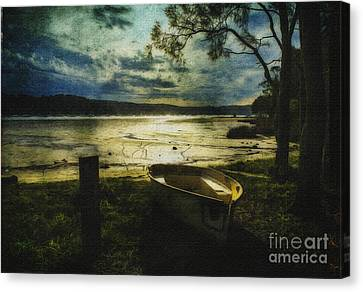 The Yellow Boat Canvas Print by Avalon Fine Art Photography
