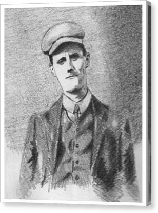 The Young James Joyce Canvas Print by John  Nolan