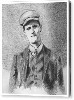 The Young James Joyce Canvas Print by John  Nolan
