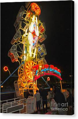 The Zipper - Carnival Ride Canvas Print by Gregory Dyer