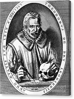 Theodor De Bry (1528-1598) Canvas Print by Granger