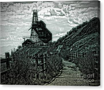 There's Gold In Them Hills Canvas Print by Christina Perry