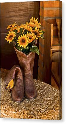 These Boots Were Made For Canvas Print by Gordon Engebretson
