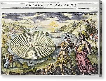 Theseus & Ariadne Canvas Print by Granger