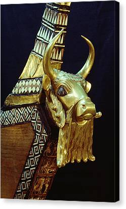 This Gilded Bull Originates Canvas Print by Lynn Abercrombie