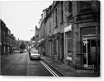 Thistle Street Rows Of Granite Houses And Shops Aberdeen Scotland Uk Canvas Print by Joe Fox