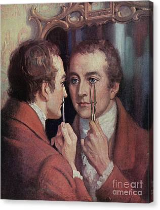 Thomas Young, English Polymath Canvas Print by Science Source