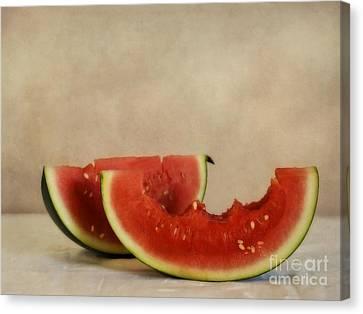 Three Bites Of Summer Canvas Print by Priska Wettstein