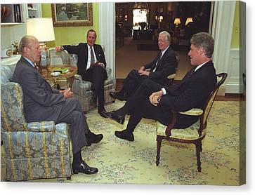 Three Former Presidents Gerald Ford Canvas Print by Everett