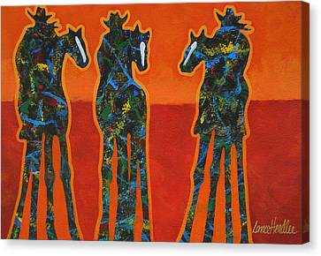 Three In Orange Canvas Print by Lance Headlee