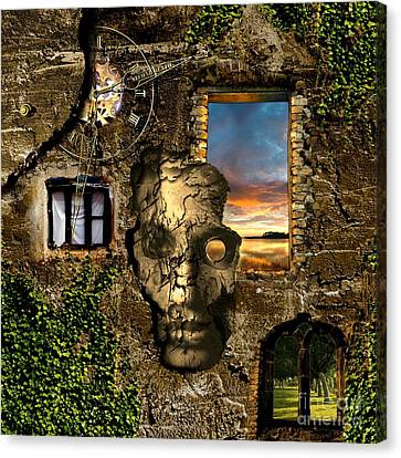 Three Windows One Lies Canvas Print by Franziskus Pfleghart