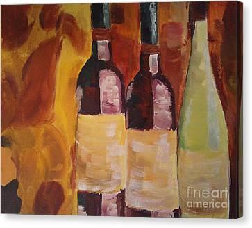Three's A Party Canvas Print by J Von Ryan