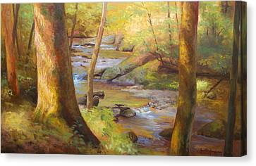 Through The Woods Canvas Print by Jonathan Howe